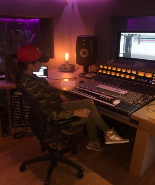Megan McKenna in the recording studio 13 April 2016