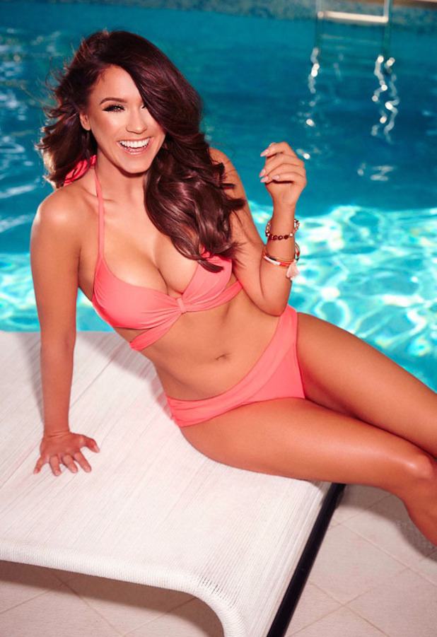 Vicky Pattison is announced as Ann Summers' newest ambassador and she shows off their swimwear range in latest campaign pictures (coral bikini) 12th April 2016