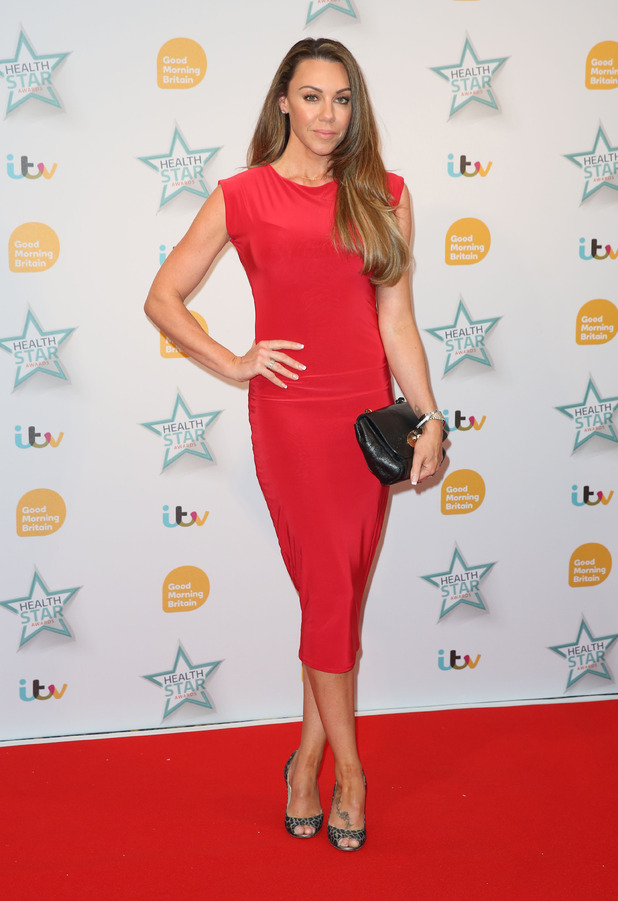 Michelle Heaton attends the Good Morning Britain Health Star Awards in London, 14th April 2016