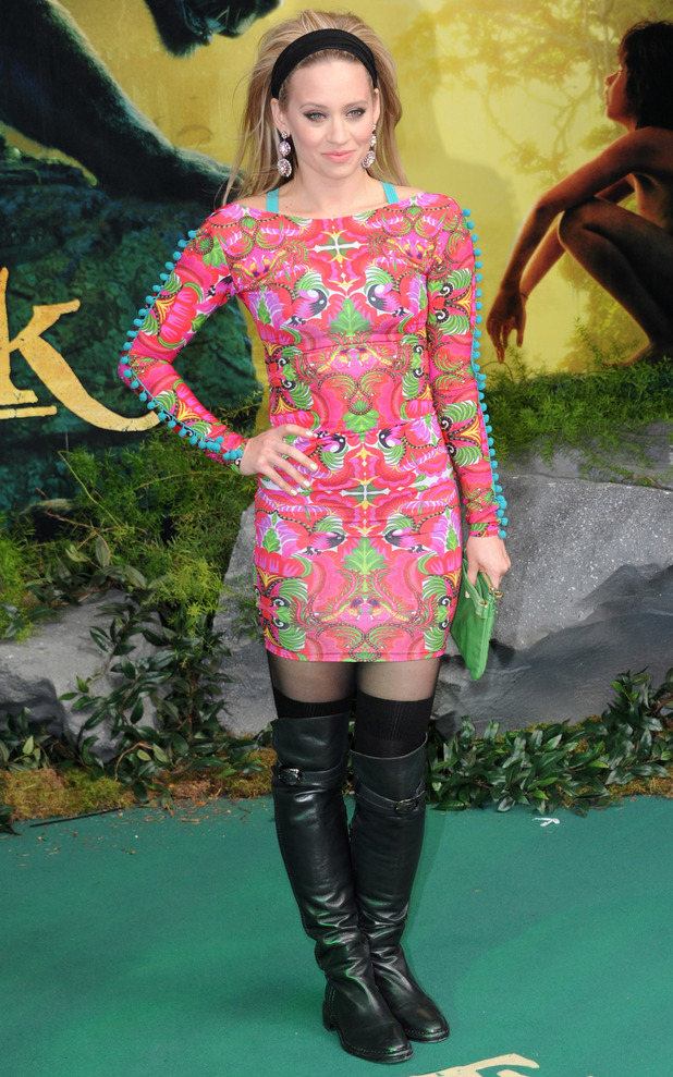 Former Pussycat Doll singer Kimberly Wyatt at the European premiere of The Jungle Book in London, 13th April 2016