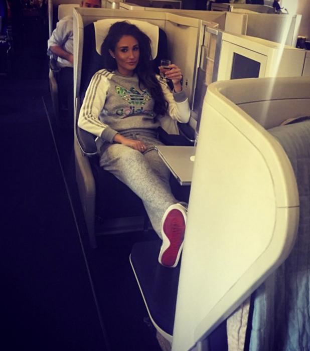 Megan McKenna on airplane to Miami, 14 April 2016