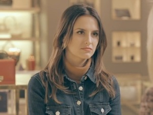 Made In Chelsea - episode two - Lucy is so unimpressed by Steph. 18 April 2016.
