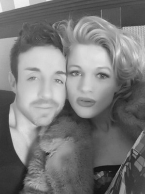 Stevi Ritchie and Chloe-Jasmine Whichello in Twitter photo, April 2016