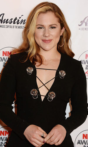 Katy B attends the NME Awards with Austin, Texas, at the O2 Academy Brixton on February 17, 2016 in London, England.