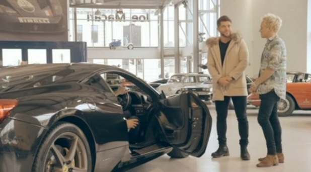 Made In Chelsea - episode two - Alex and Jamie go car shopping. 18 April 2016.