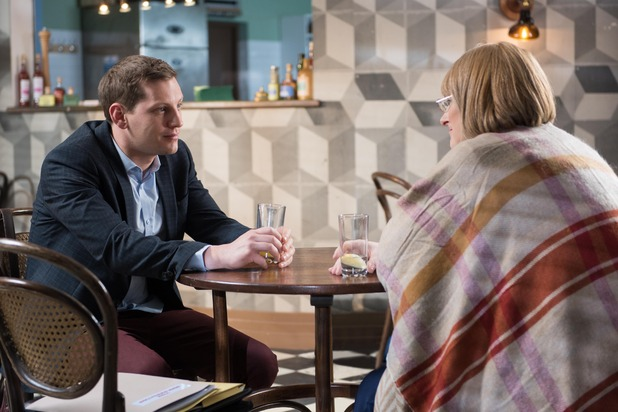 Hollyoaks, Mrs St Claire and John Paul, Fri 22 Apr