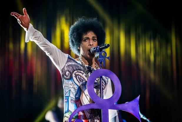 Prince live in Birmingham in 2014.