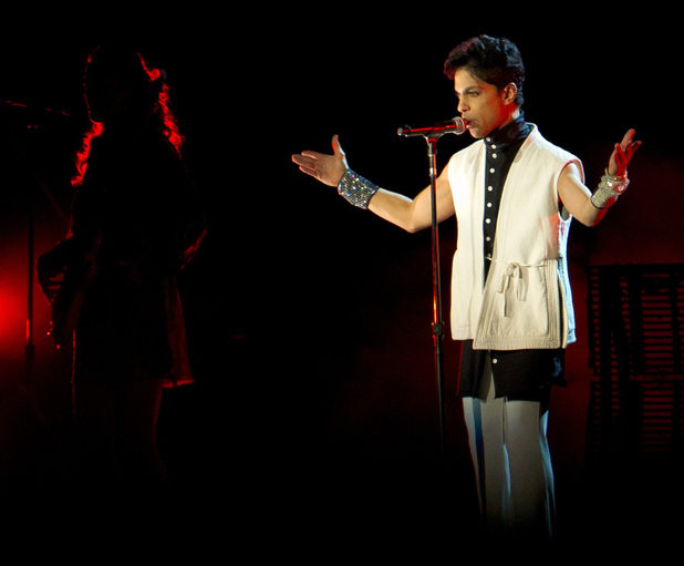 Singer Prince performing at the Way out West Festival held at Gothenburg, Sweden 12.08.11