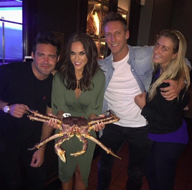 Vicky Pattison enjoys night out with Spencer Matthews, 22 April 2016.