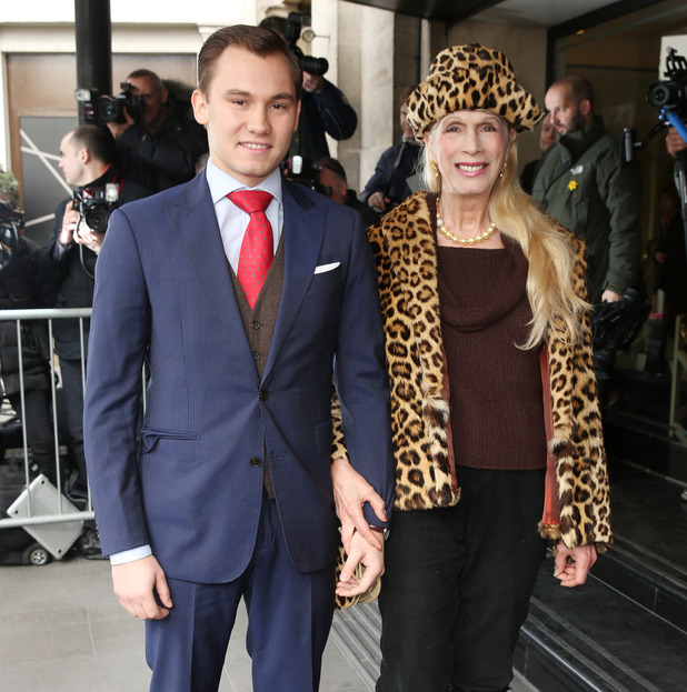 Lady Colin Campbell and her son Dima Campbell at The TRIC Awards 2016 held at Grosvenor House Hotel - 8 March 2016.