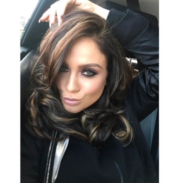 Geordie Shore's Vicky Pattison debuts much darker hair with blonde highlights, Instagram 18th April 2016