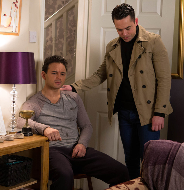 Corrie, Jason finds out his dad's died, Mon 25 Apr