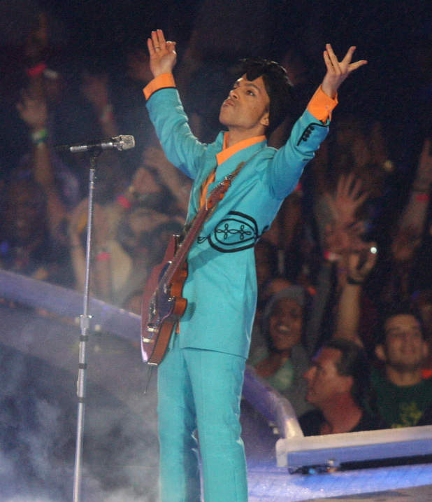 February 4, 2007; Prince the Halftime Show for Super Bowl XLI.
