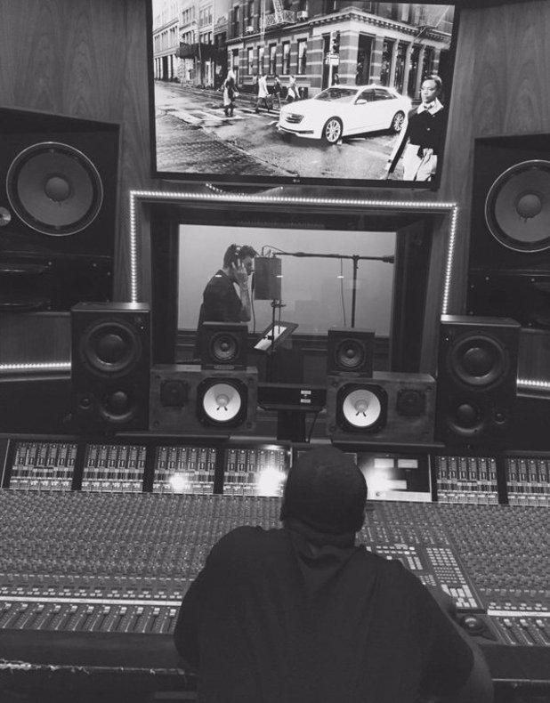 James Graham with famed producer Rodney Jerkins. 17 April - Los Angeles.