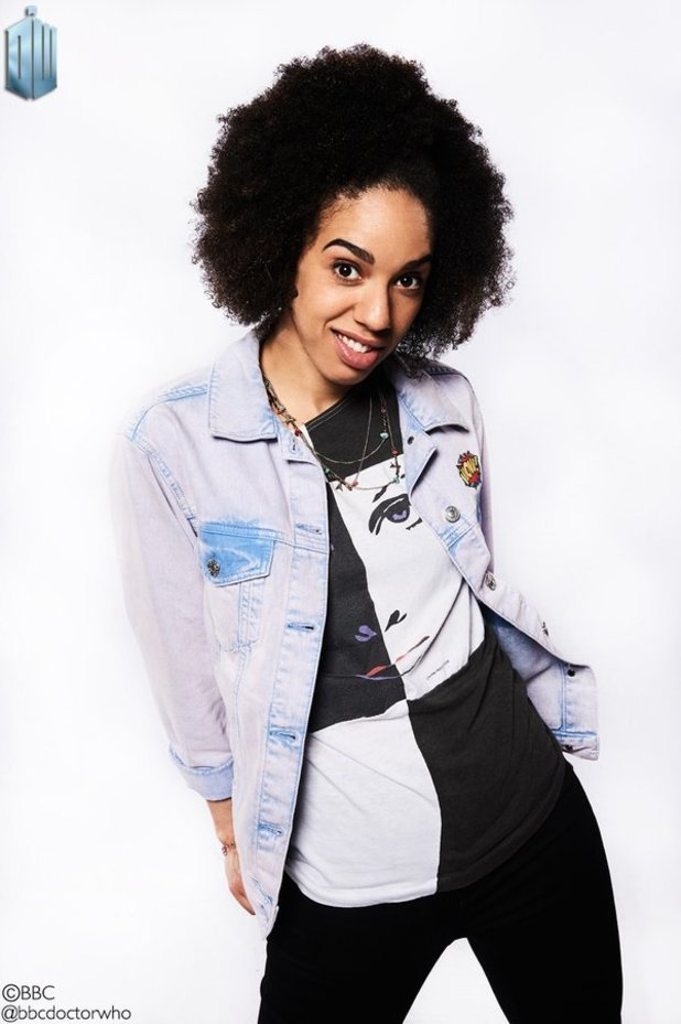 Pearl Mackie unveiled as Doctor Who's new companion, 23 April 2016.