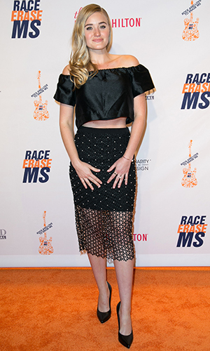 Aly and AJ Michalka attend 23rd Annual Race To Erase MS Gala - Red Carpet at The Beverly Hilton Hotel.