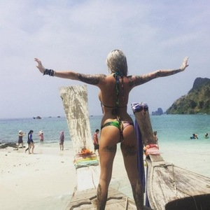 Jem Lucy on holiday in Thailand 26 April