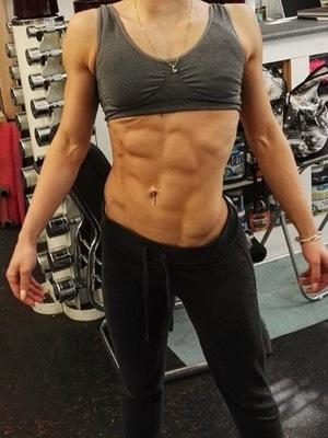 Former Skins actress Megan Prescott training selfie April 2016