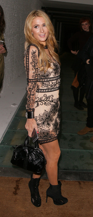 Paris Hilton wears lace dress out and about in London, 27th April 2016