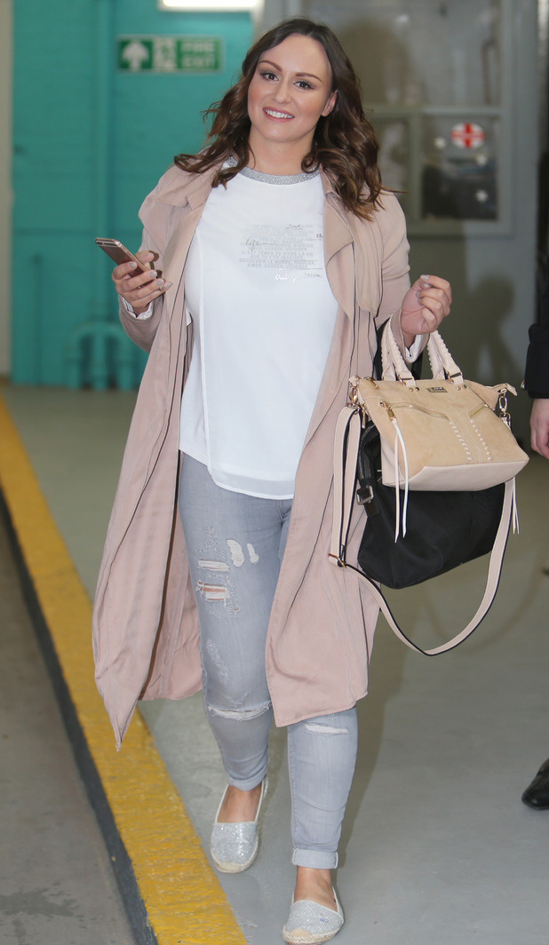 Chanelle Hayes outside ITV Studios - 25 April 2016.