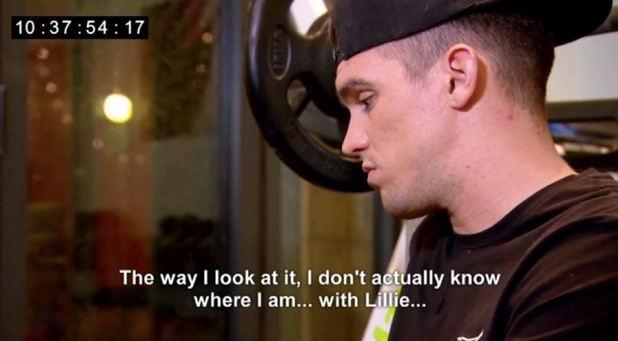 Geordie Shore episode 7: Gaz ponders over his relationship with Lillie. 26 April 2016.