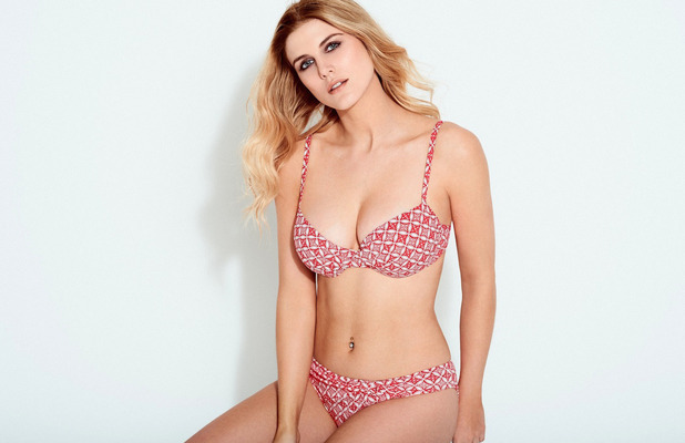 Former Made In Chelsea star Ashley James is announced as the new face of George's swimwear range, 26th April 2016