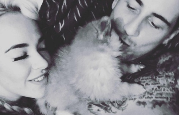 Stephanie Davis, Jeremy McConnell and puppy Simba, Instagram 22 April
