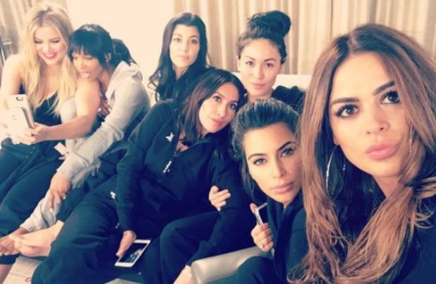 Kourtney, Kim and Khloe Kardashian enjoy a girls' night in