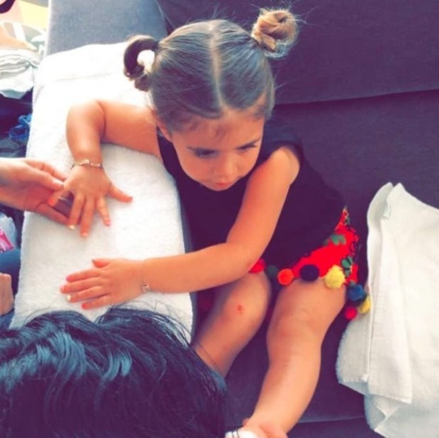 Penelope Disick wears her hair in Minnie Mouse-inspired buns, 29th April 2016