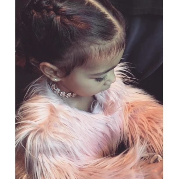 Kim Kardashian takes to Instagram to post a picture of North West's cute baby hairs, 29th April 2016