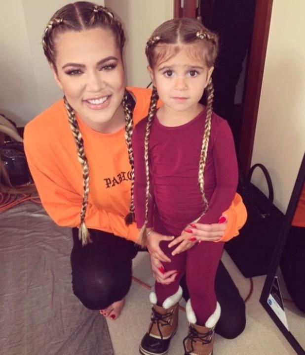 Penelope Disick wears braids to rival aunty Khloe Kardashian, Instagram 29th April 2016
