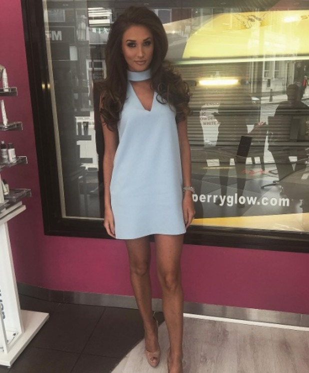 Megan McKenna shares a picture of herself at salon launch