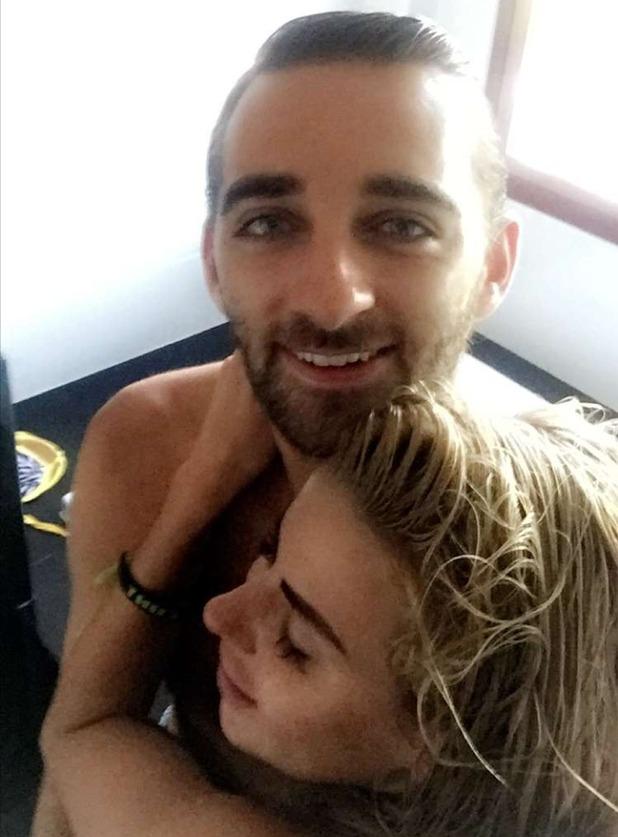 Hannah Elizabeth in Thailand with boyfriend George Andreetti. 24 April 2016.