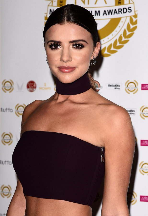 Lucy Mecklenburgh - National Film Awards at the Porchester Hall, London.