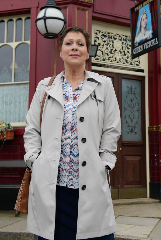 Denise Welch will play Kyle's mum Alison in EastEnders. April 2016.