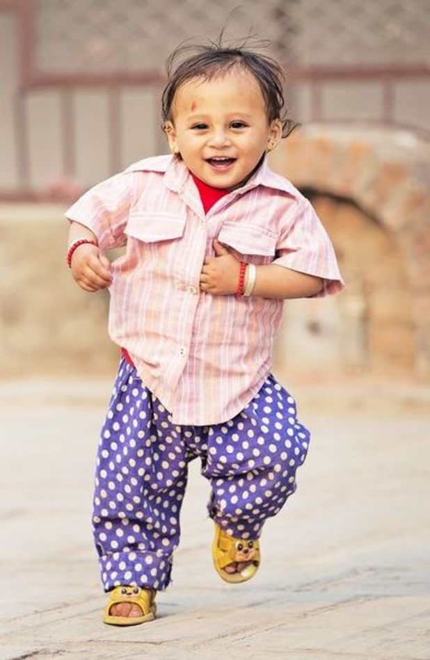 Sonies Aawal is a happy little boy one year on from the Nepal earthquake