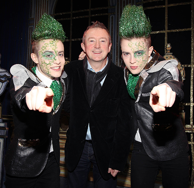 John Grimes and Edward Grimes aka Jedward launch the new pantomime 'Jedward and the Beanstalk' with Louis Walsh Dublin, Ireland - 09.01.11