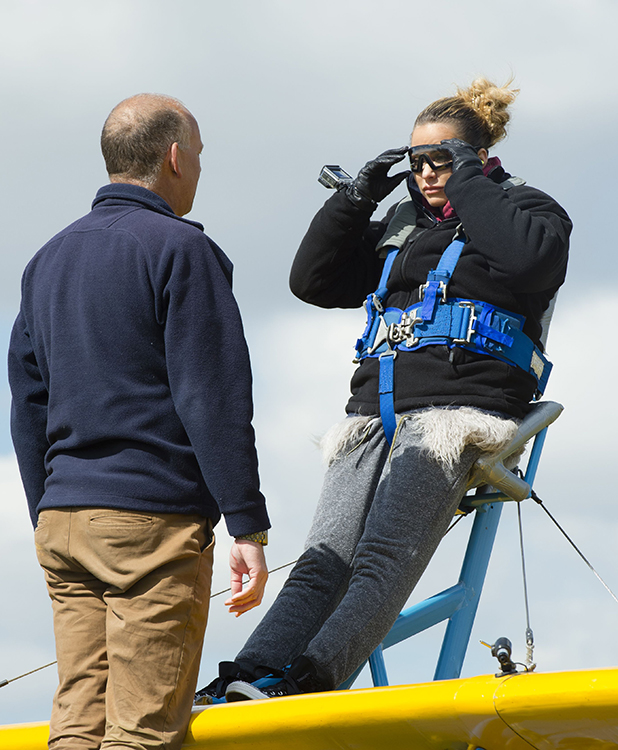 Katie Price takes on a wing walking challenge to mark Loose Women's 2500th show 28 Apr 2016