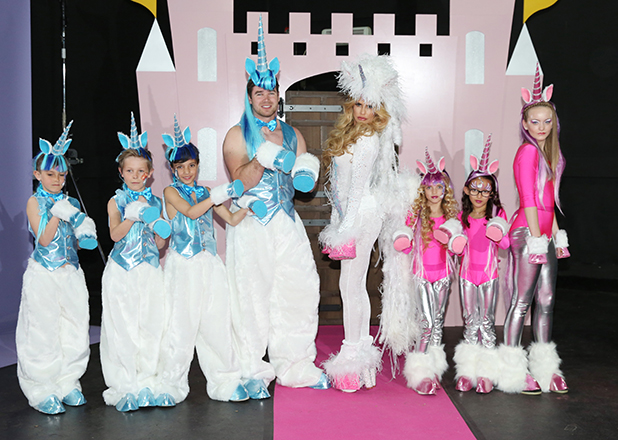 Katie Price introduces Kieran Hayler and her riding team for Katie Price's Pony Club which will air on TLC later this year 27 April 2016
