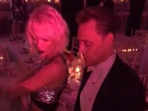 Taylor Swift and Tom Hiddleston dancing at Met Gala after party. 3 May 2016.