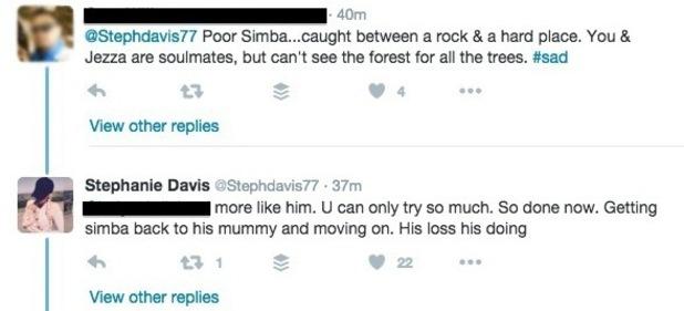 Stephanie Davis tweet about Jeremy McConnell 6 May