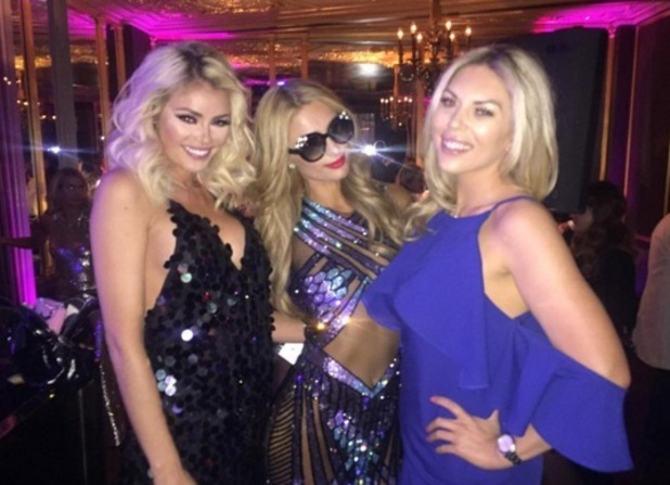 Chloe Sims, Frankie Essex and Paris Hilton 2 May