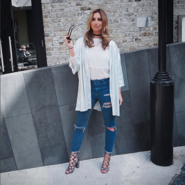 Former TOWIE star Ferne McCann shows off her Ego shoes on Instagram, 5th May 2016