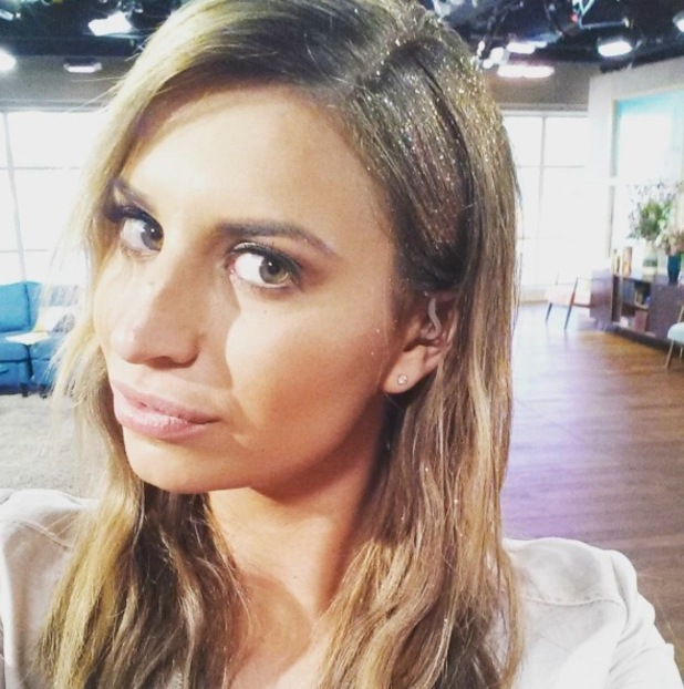 Former TOWIE star Ferne McCann shows off her glittery hair on This Morning, 5th May 2016