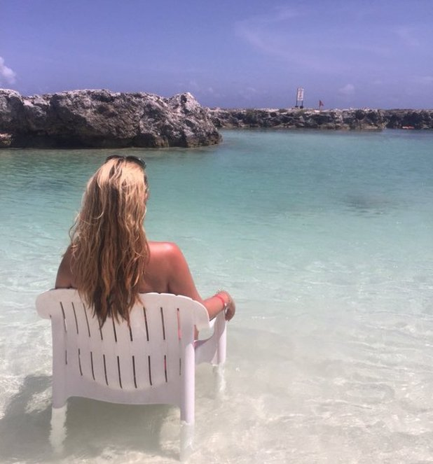 Kate Wright on holiday in the Riviera Maya. 3 May 2016