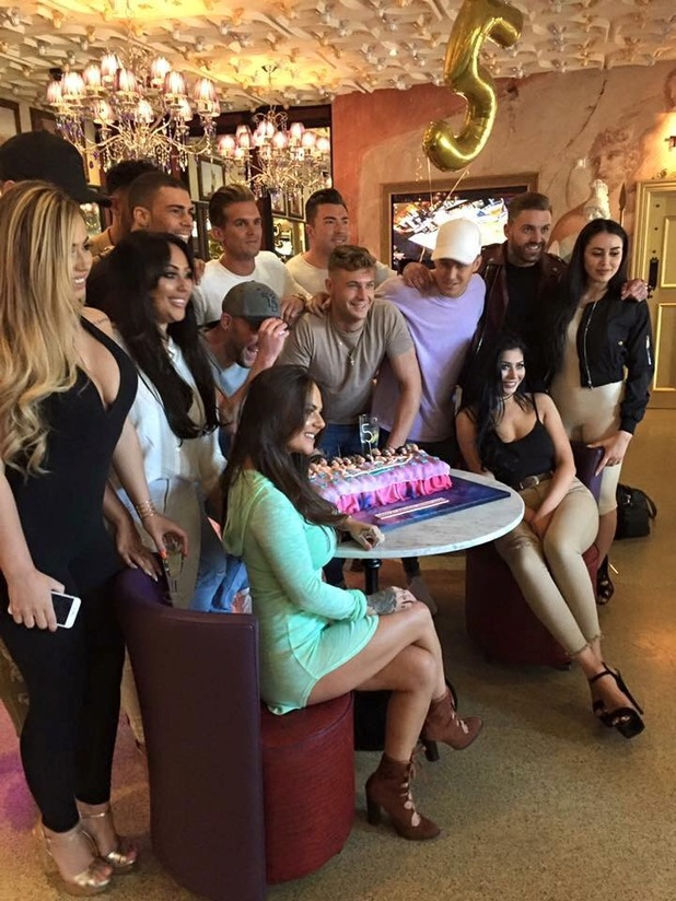 Geordie Shore cast celebrate fifth birthday at Mambo Wine and Dine - 3 May 2016