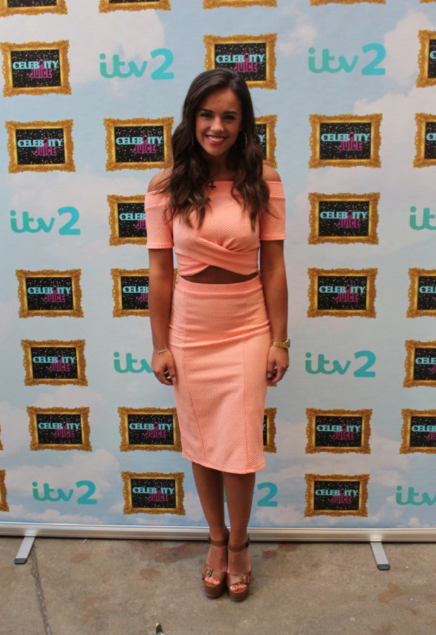 Coronation Street star Georgia May Foote wears high-street co-ords (Miss Selfridge) on Celebrity Juice, 5th May 2016