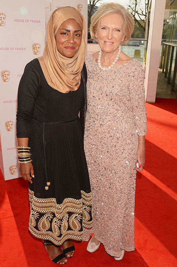 Mary Berry and Nadiya Hussain - House Of Fraser British Academy Television Awards 2016 - VIP Arrivals - 8 May 2016