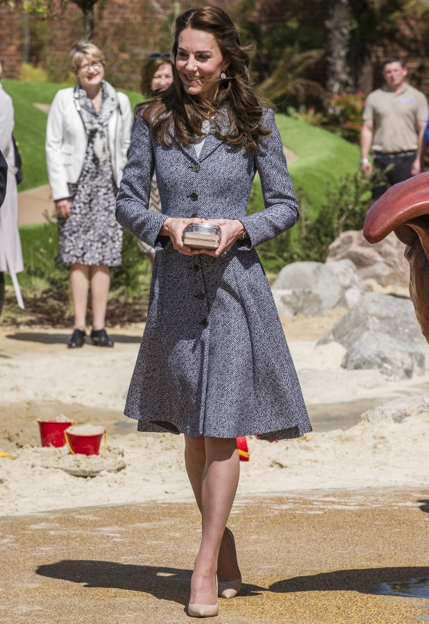 The Duchess of Cambridge attends the opening of Magic Garden's new children's play area at Hampton Court Palace