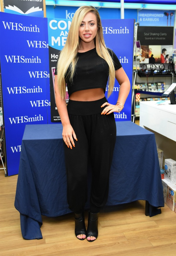 Holly Hagan Signing of Body Bible at WH Smith, Bexleyheath, Kent 30 April 2016
